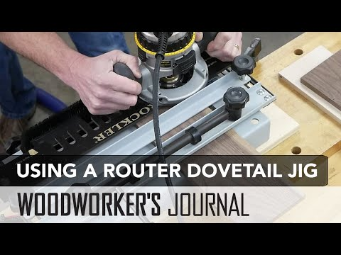 Routing Half Blind Dovetails with a Jig