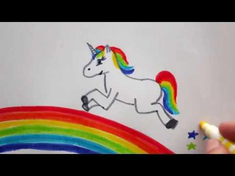 Regenbogen Einhorn Zeichnen Mit Sternen How To Draw A Unicorn