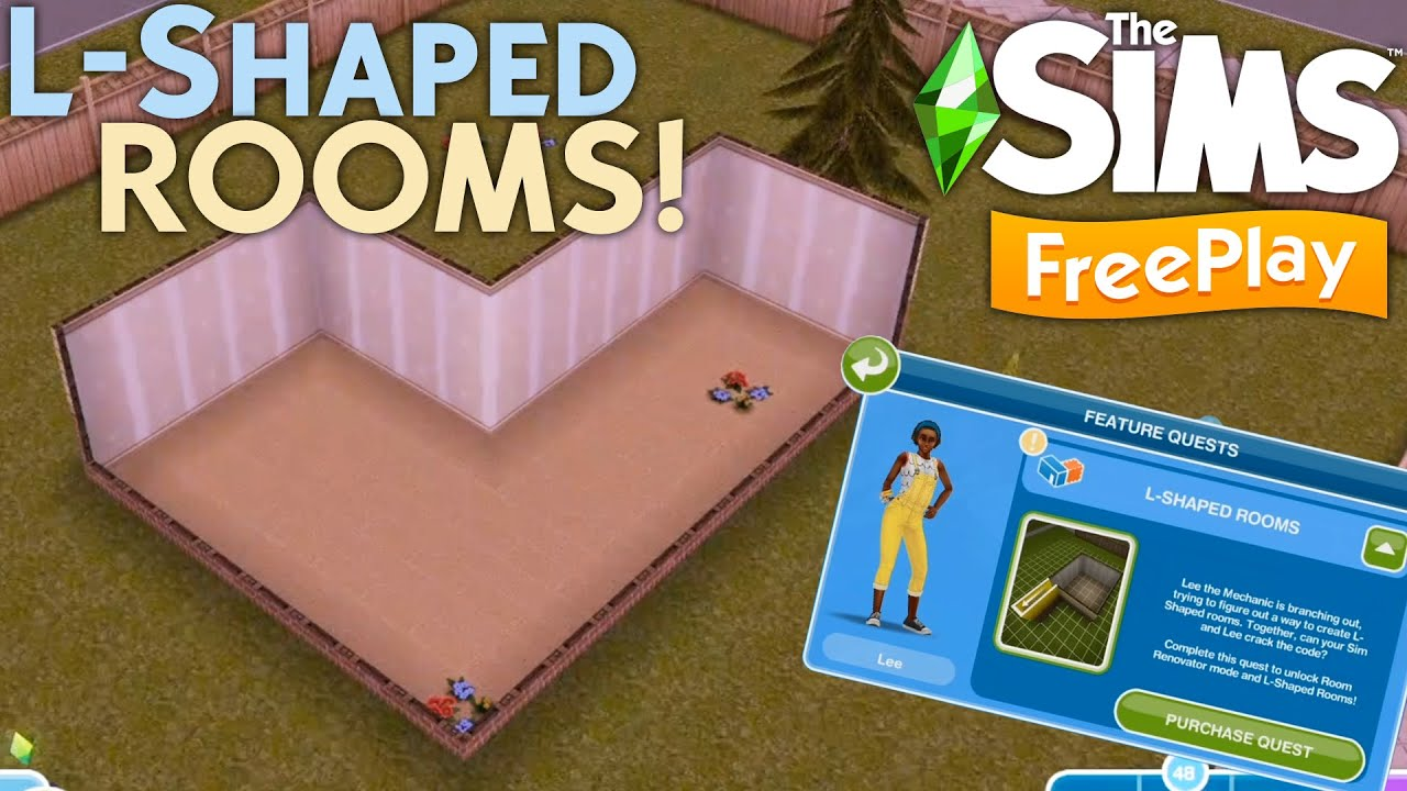 The Sims Freeplay L Shaped Rooms Quest Walkthrough Tutorial How To Unlock L Shaped Rooms Youtube