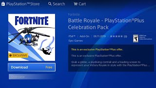 HOW TO GET NEW FORTNITE PLAYSTATION PLUS CELEBRATION PACK FREE! FORTNITE PS PLUS COAXIAL BLUE GLIDER