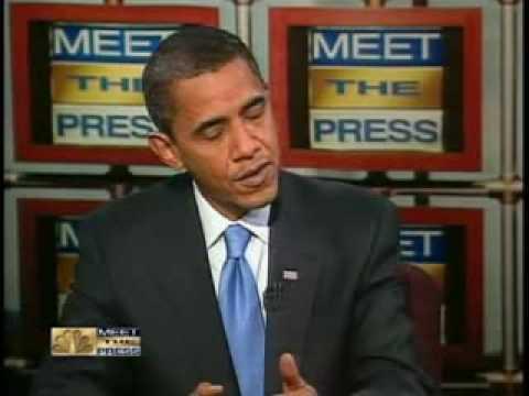 Barack Obama On Meet The Press -Obama