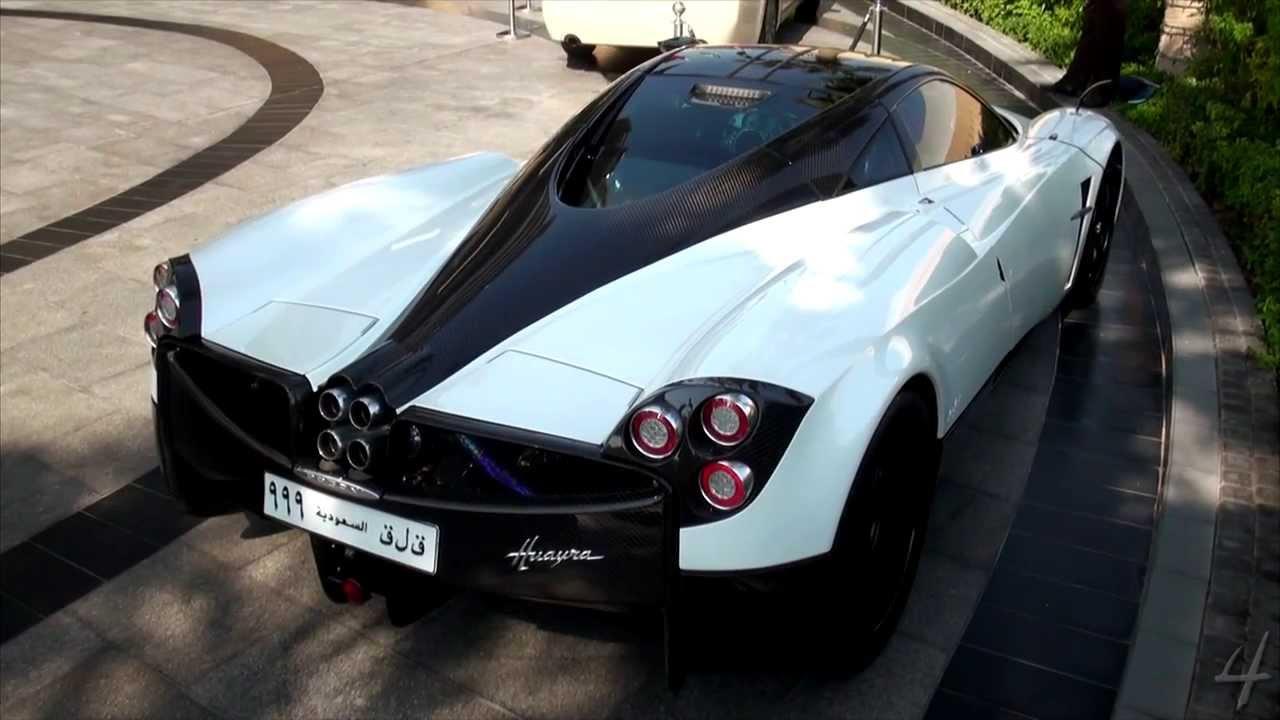 White Pagani Huayra in Dubai - YouTube