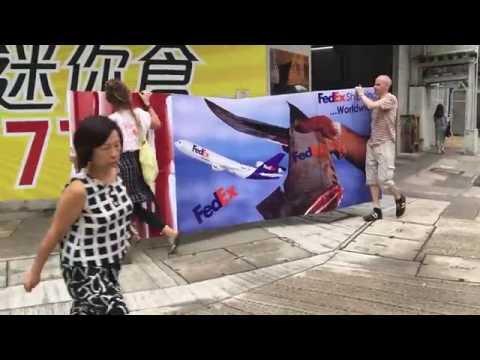 Hong Kong activists protest FedEx shipping shark fin