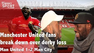 Man United Fans Break Down and Fight over Derby Loss | Manchester United 1 - 2 Man City