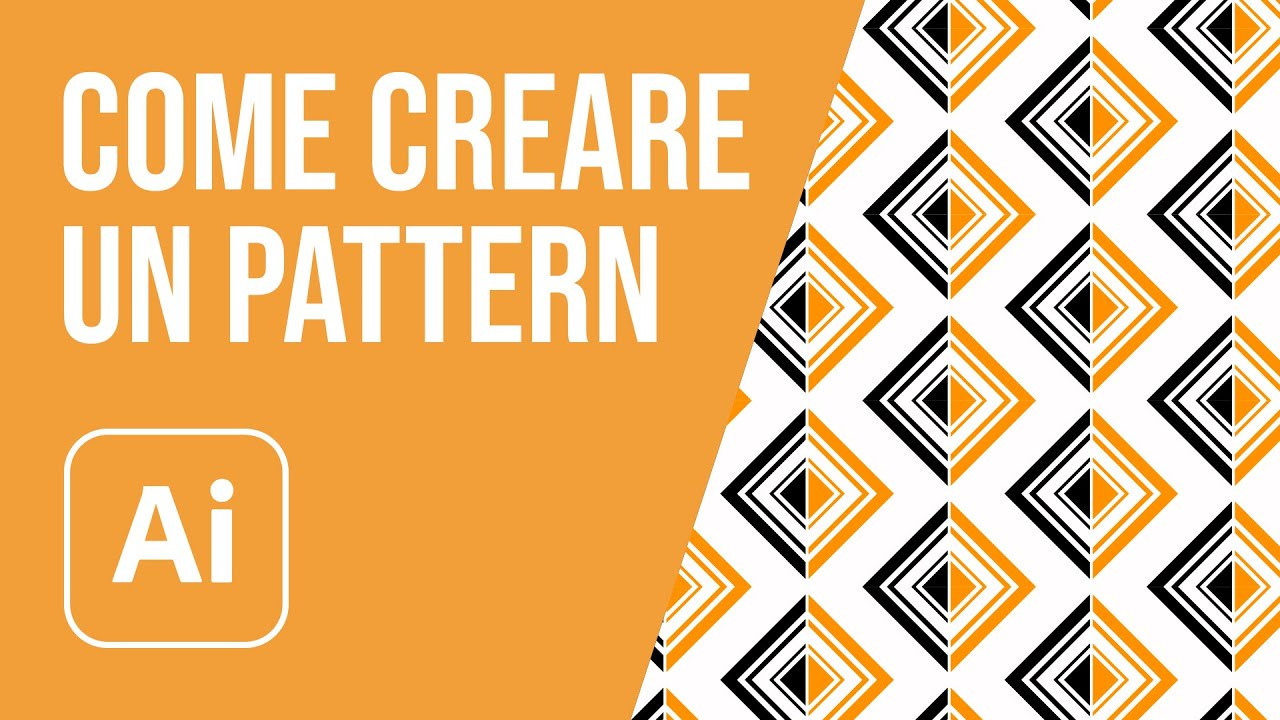 come creare un pattern con illustrator youtube