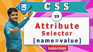 CSS video tutorial - 23 -  CSS Attribute Selector (Square Brackets) - Part 2