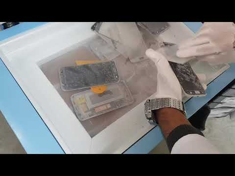 How separate edge broken glass bu IFT