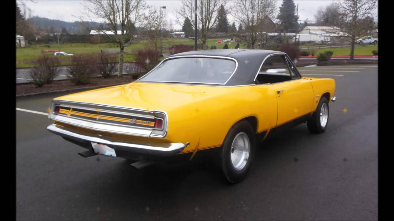 1968 plymouth barracuda 14 750 youtube. Black Bedroom Furniture Sets. Home Design Ideas