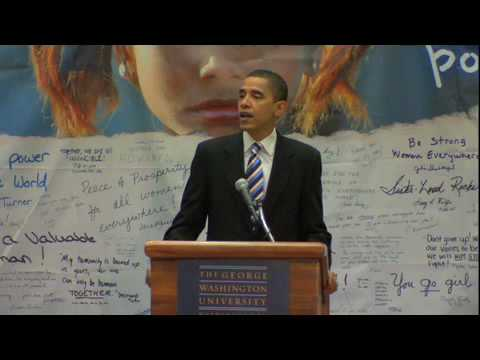 Senator Obama Discusses Empowering Women Across the Globe.