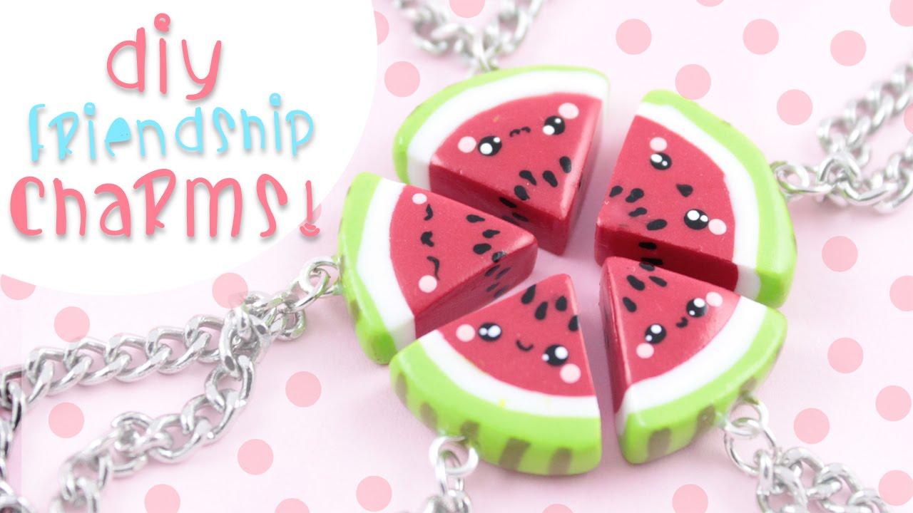Watermelon friendship charm bracelet Small gift for best friend. Green cord wish bracelet