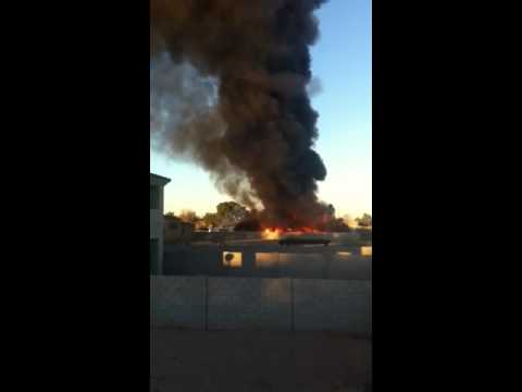 Fire near Aire Libre Elementary School 2