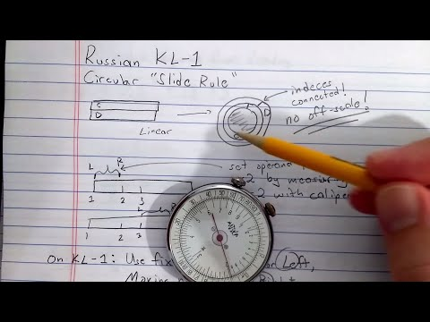 "Russian KL-1 Circular ""Slide Rule"" (1/2 -- basics)"