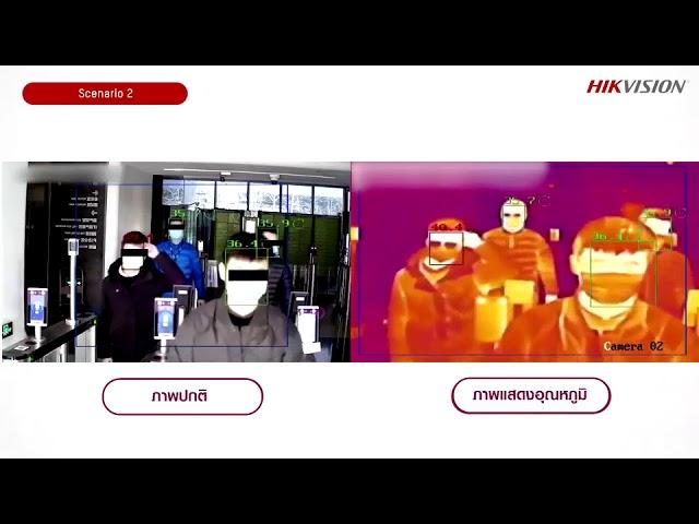 โซลูชั่นตรวจไข้ด้วยกล้องตรวจจับความร้อน Hikvision Fever Screening Thermal no logo