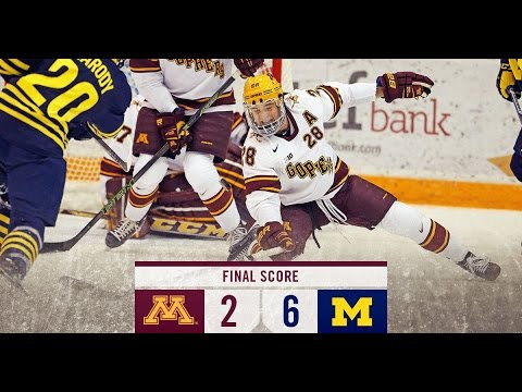 Gopher Hockey Falls to Michigan 6-2
