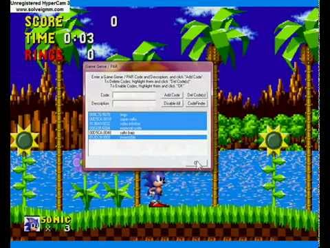 Sonic the Hedgehog 1 <b>Game Genie Codes</b> (<b>Genesis</b>) - YouTube