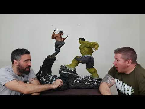 Hulk vs Wolverine custom diorama (statue, marvel, Aarón Rey Pérez)
