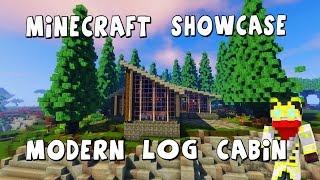 Minecraft Modern Log Cabin Showcase Feat Merwwan