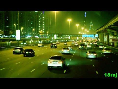 Dubai Sheikh Zayed Road   Night Scen HD