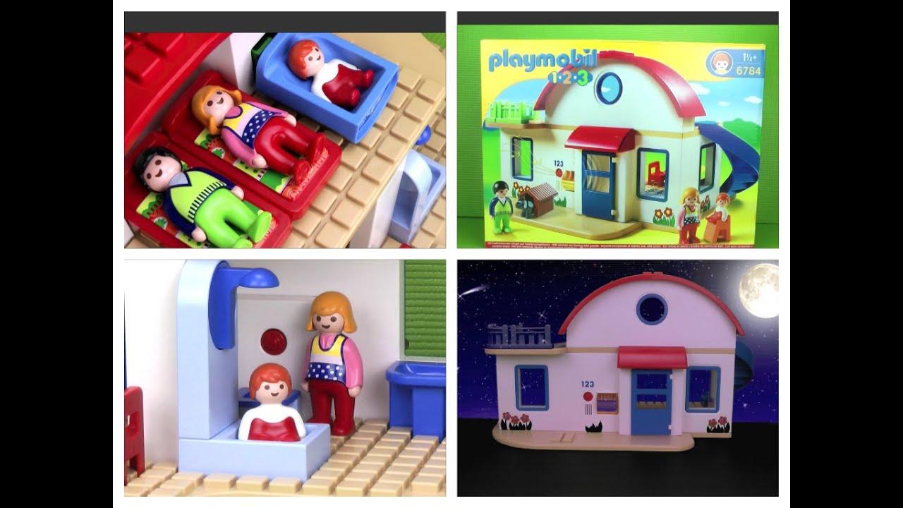 Playmobil 1 2 3 casa moderna 6784 jugamos con pap for La casa de playmobil