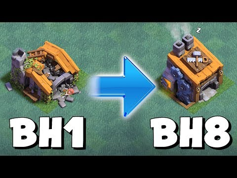 BUILDER HALL SNEAK!?! | CLASH OF CLANS | NEW LEVELS BH 1-8