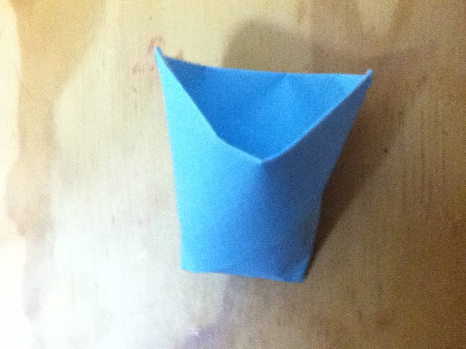 how to make a paper cup origami cup step by step