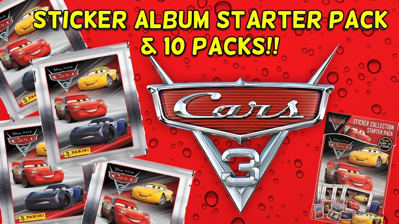 Cars 3 disney pixar panini sticker starter album 10 packs cool stickers