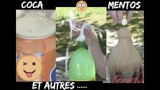 Coca mentos et autres.....😋