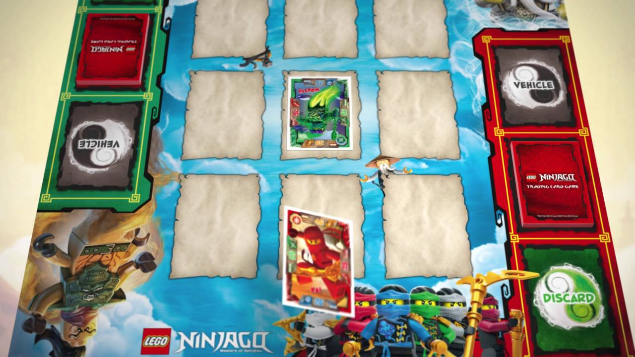 Lego Ninjago Trading Card Game Rules Tutorial 1 Simple Game