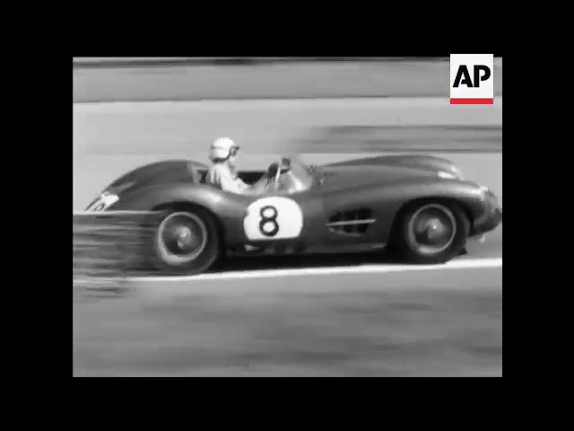 GOODWOOD Stirling Moss Tony Brooks TT Tourist Trophy 1958 Aston Martin DBR1