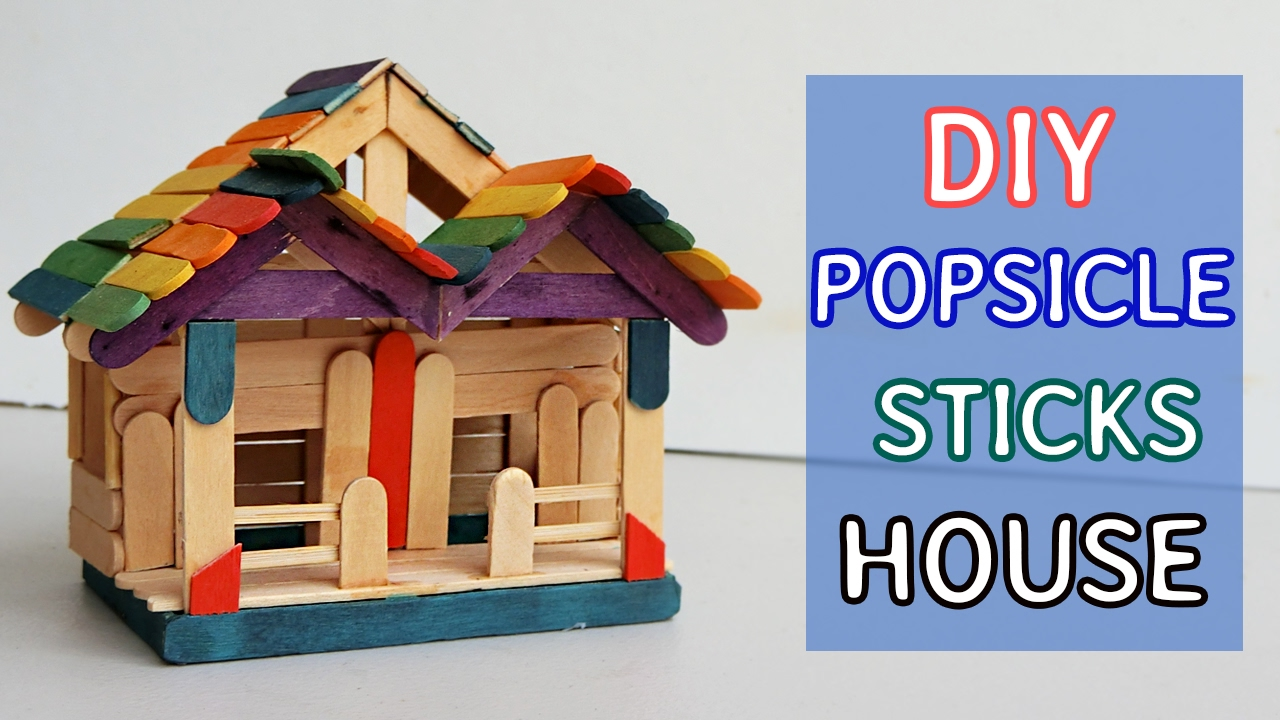 DIY Popsicle Sticks House #7 Tutorial Crafts Ideas YouTube