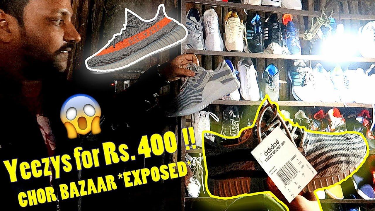 76a15d6b9f1774 CHOR BAZAAR MUMBAI - We Found YEEZYS !! Cheap Shoes Market - YouTube