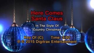 Country Christmas - Here Comes Santa Claus (Backing Track)