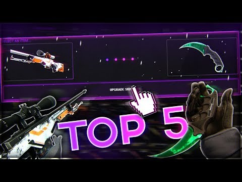 Top 5 - BEST SKIN UPGRADES OF 2018!! KEY UPGRADES TO A KNIFE AND A DRAGON LORE!! CS:GO