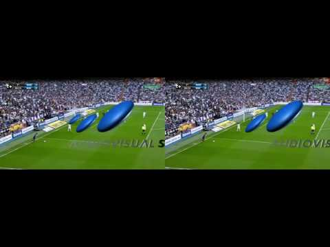 SIDE BY SIDE 3D SMARTPHONE.Real Madrid vs Barcelona 2 6 HD