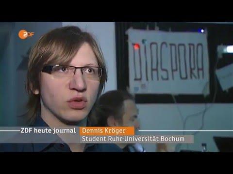 ZDF heute journal - Tschüss Facebook? Dezentrale Alternative Diaspora auf dem 32c3 - 29.12.2015