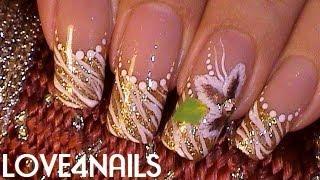 Decoracion de Uñas Zebra Tutorial Como Pintar una Flor a Mano Alzada thumbnail