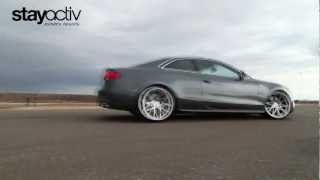 [HD] Ride in a Supercharged Audi S5 w/ Roc-Euro Air Intake! ActivFilms.TV