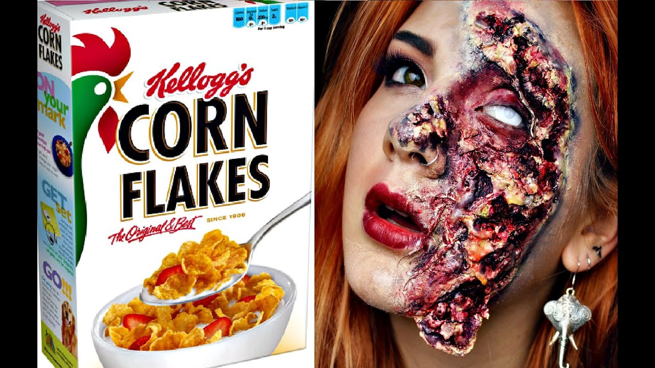 Diy Rotten Zombie Skin Using Cornflakes Halloween