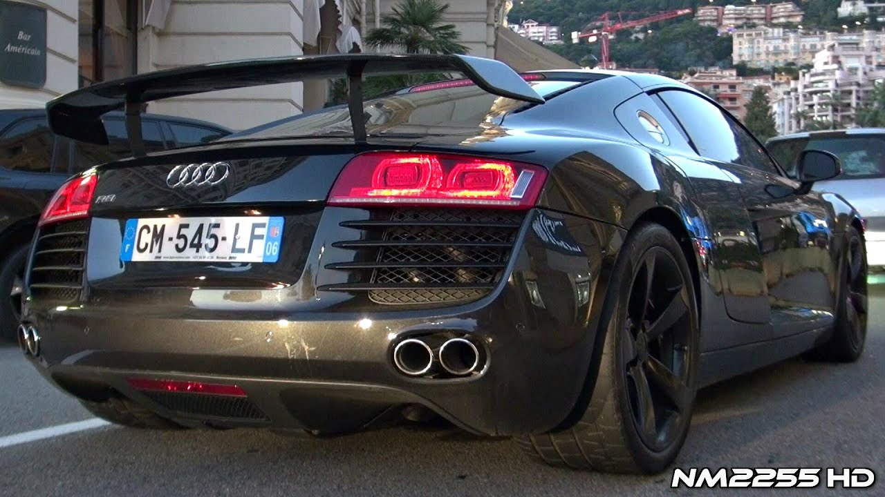 Audi R8 V8 With Meisterschaft Exhaust Loud Sound Youtube