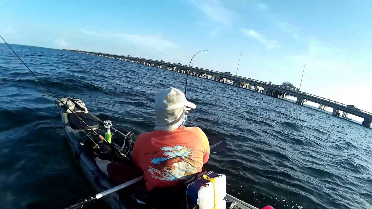 Kayak fishing grouper fishing at tampa bay skyway bridge for Skyway bridge fishing
