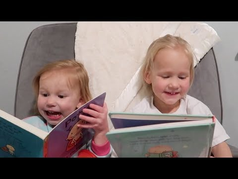 Cute toddlers read bedtime stories!!!