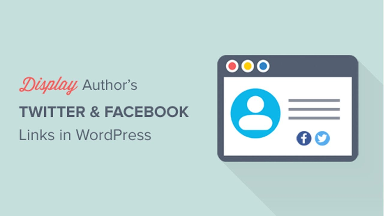 How to Display Author's Twitter and Facebook on the Profile Page