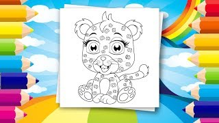 Coloring pages for kids - Cute & sweet animals