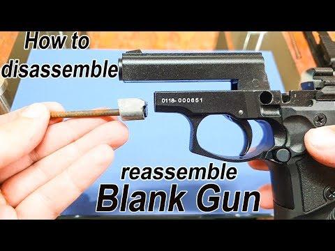 How to disassemble,clean, reassemble Blank Gun  (Black Zoraki 914)