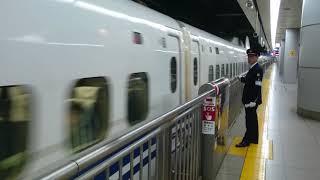 [品川駅]東海道新幹線 N700Aと700系同時到着