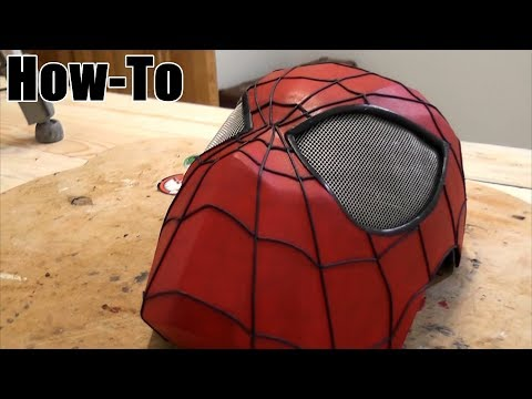How to make a new Spider Man mask from Cardboard (part 2)