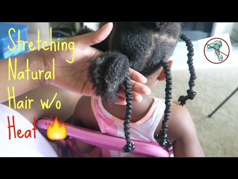 Natural Kids: Stretching Natural Hair WITHOUT Heat || African Threading|| Protective Styles