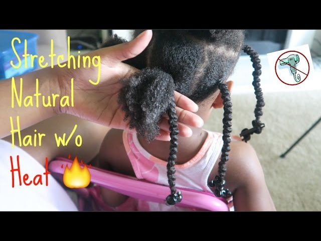 Natural Kids Stretching Natural Hair Without Heat African Threading Protective Styles Youtube