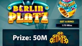 8 Ball Pool - EPIC MATCH!! Berlin Platz, Winning 50 Million Coins!!