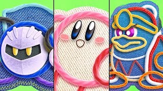 All Playable Characters in Kirby's Extra Epic Yarn (Kirby, Meta Knight & King Dedede)